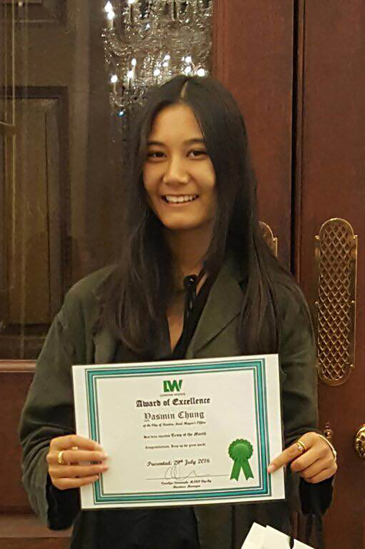 Image for Yasmin Chung is awarded Temp of the Month for July 2016